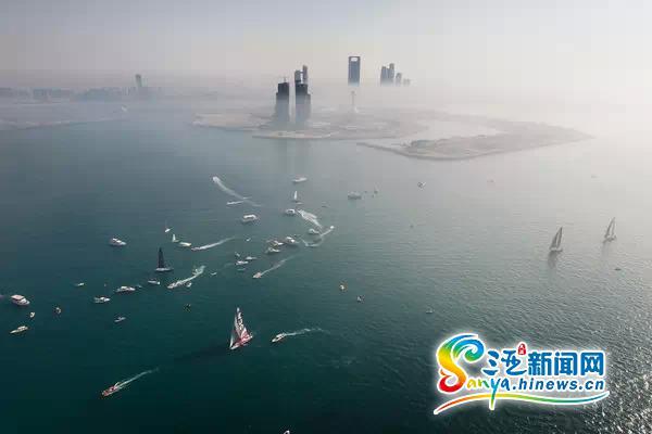 沃帆赛第三赛段启航东风队驶向母港(图)