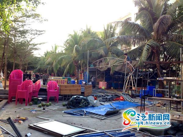 三亚吉阳区拆除16家占用绿地违建商铺将规划300个停车位