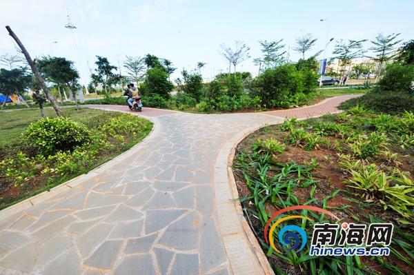 海口2014年新建5个小游园 16条道路安装照明设施