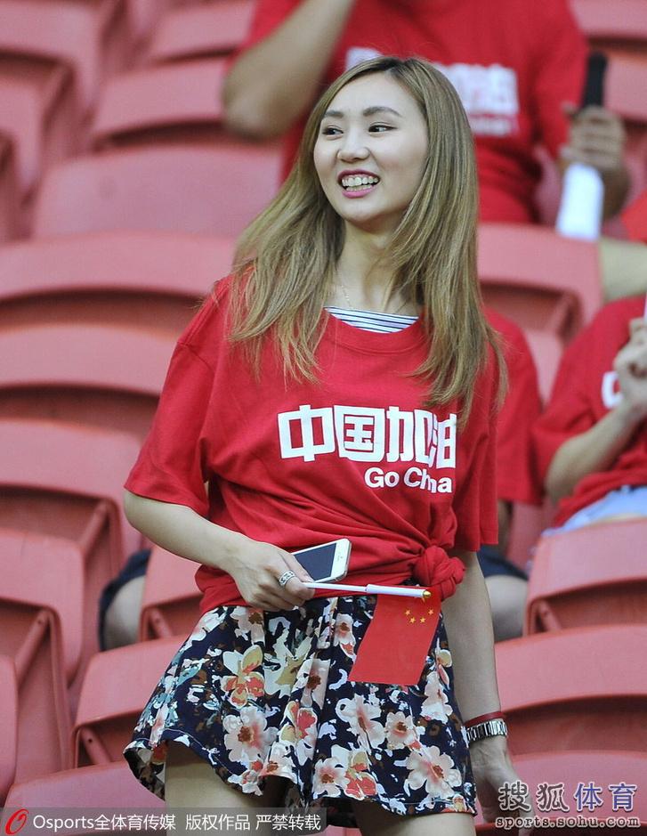 亚洲杯14日美女汇总:清纯妹惊为天人胸插美女的合集胸中国国旗图片