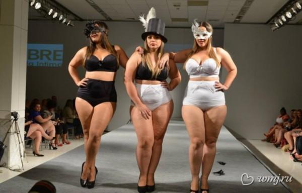 巴西胖模特时装秀展女性丰满美