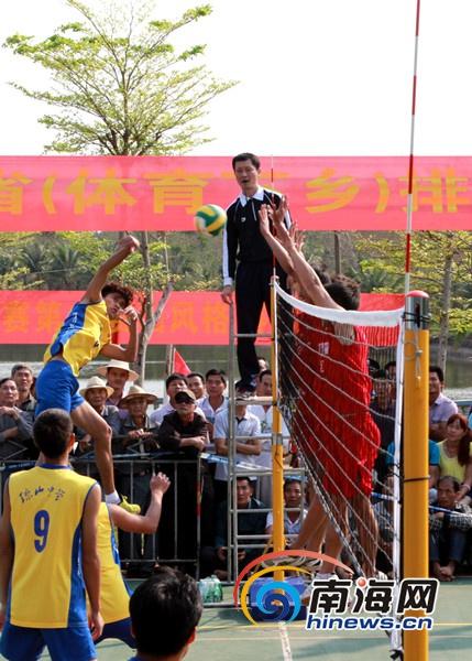 海南排球精英赛结束 琼山中学队全胜夺冠