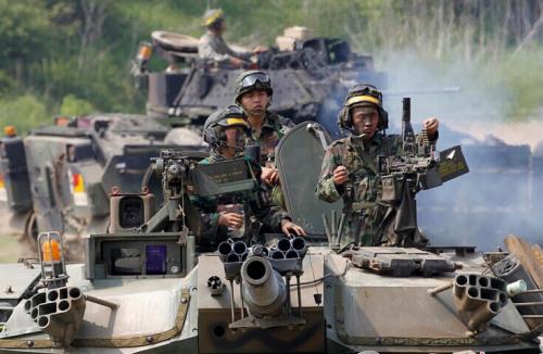 南海网 新闻中心 军事新闻 环球军情    韩美联合司令部和韩国军队