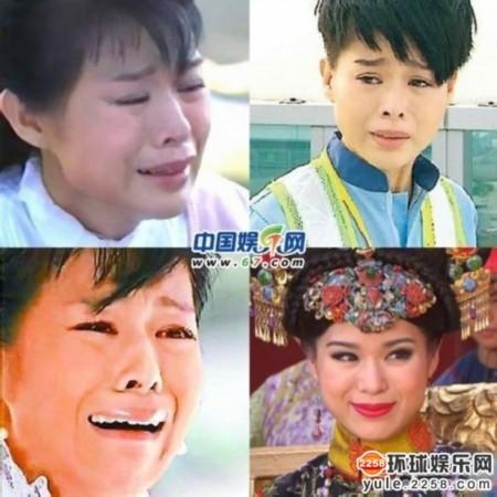 图揭明星哭相 赵薇表情惊悚唐诗咏哭出大鼻涕