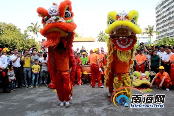 """府城换花节""""雄狮闹春""""市民感受文化氛围"""