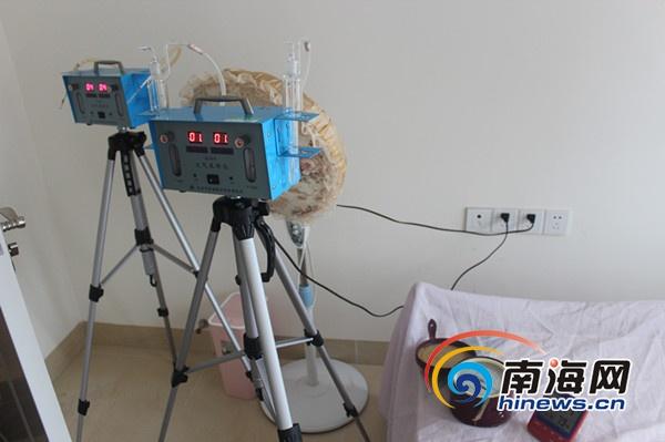 海南省产品质量监督检验所免费为海口两住户作室内空气检测