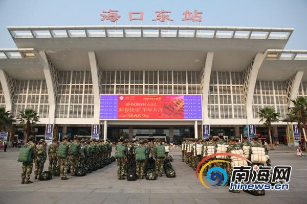 海南武警官兵进驻博鳌年会安保任务区参勤官兵临战大练兵