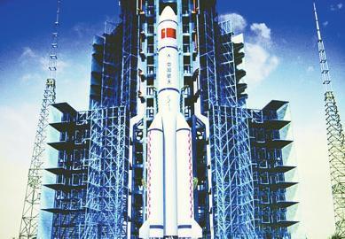中国大火箭长征五号完成芯一级动力系统第二次试车