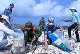 三沙军警民启动环保志愿行动