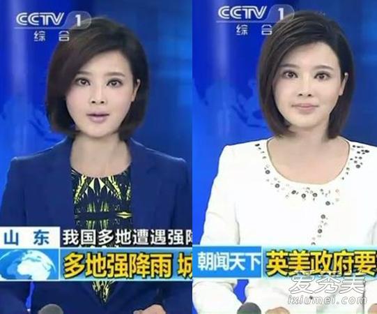 胡蝶屄图_央视主持人胡蝶整容前后 左右脸不对称(图)