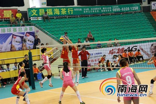 中国大学生排球总决赛文昌开战 24支球队角逐