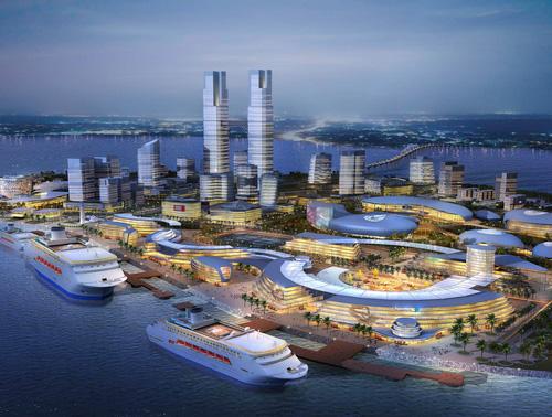 依据国家海洋局的批复文件和《海口市城市总体规划(2012-2020)》,特此图片