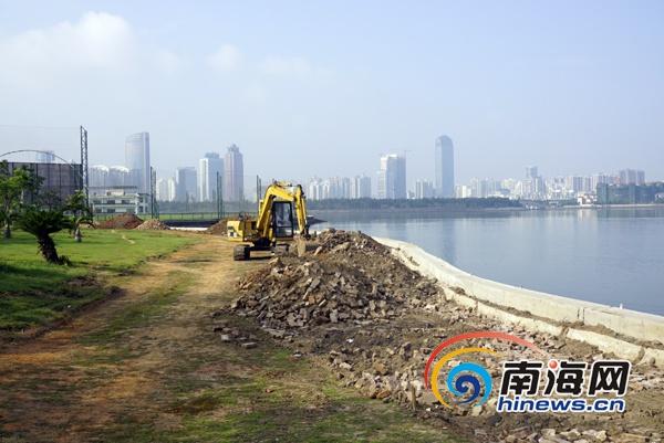海口启动海岸线设施灾后修复工程将提高抗灾能力