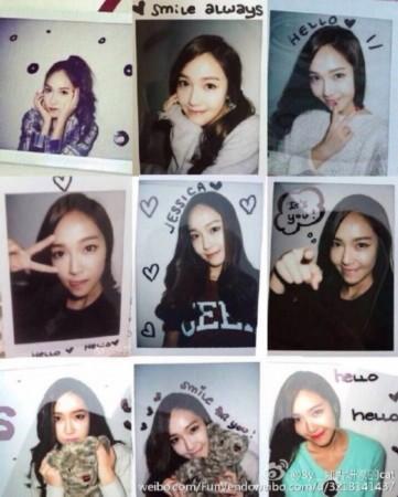 Jessica书写图片表情郑秀妍亲笔唱歌祝福语大全包的拍照叫人姿势图片