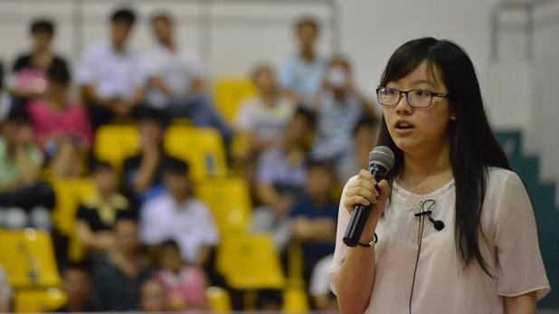 海南优秀大学生励志报告会开讲 四位北大才女