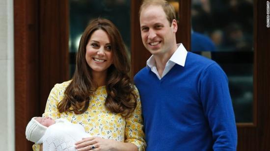 英国小公主全名公布:夏洛特·伊丽莎白·戴安娜