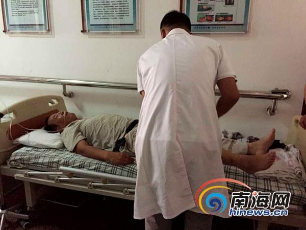 海南东线高速车祸伤者回忆撞车瞬间过路司机砸窗施救