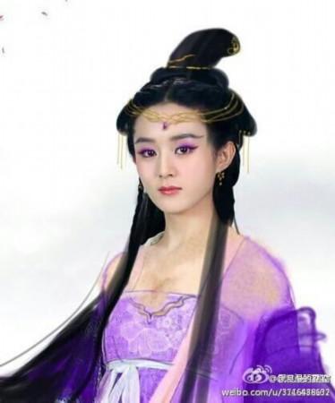 趙麗穎,張丹峰等聯袂主演的大型古裝仙俠電視劇《花千骨》自開拍以來圖片