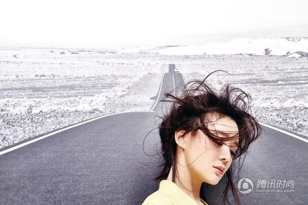 袁姗姗公路大片 优雅淡定从容大气