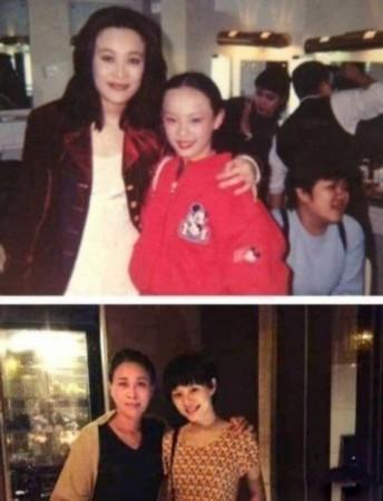 认出这张照片里林青霞抱着的4岁小女孩(左一)就是徐若瑄吗?当图片