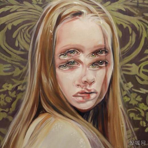女画家手绘3d眩晕美人