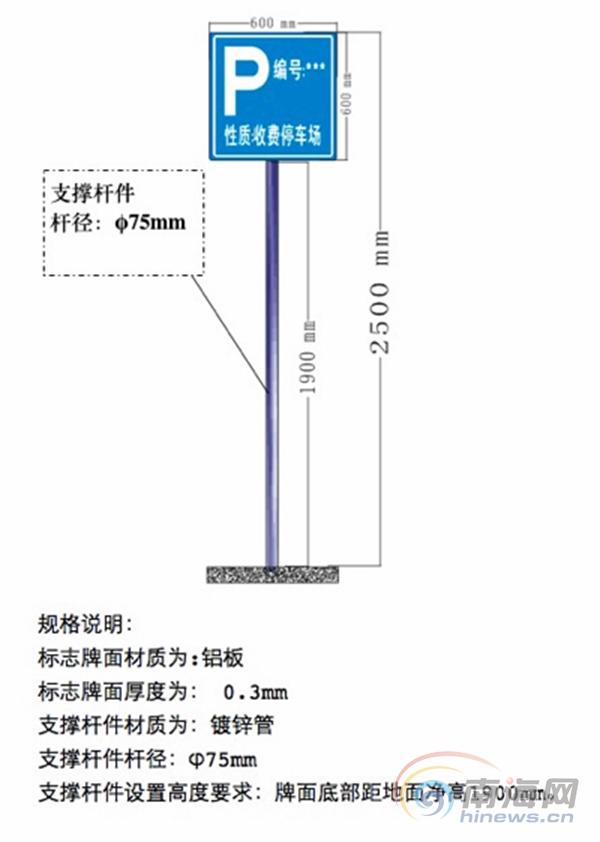 """海口公布停车场场地""""四统一""""设置标准不符合要求的取缔"""