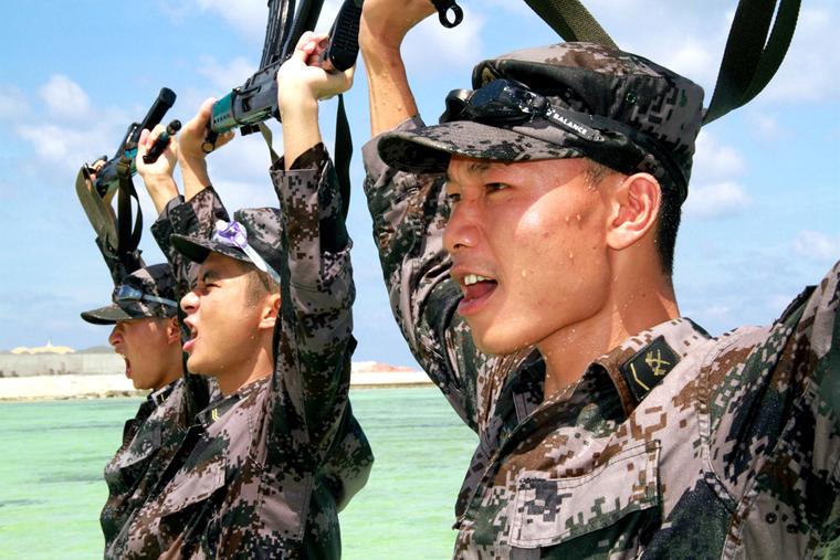 高清:西沙群岛部队训练掠影