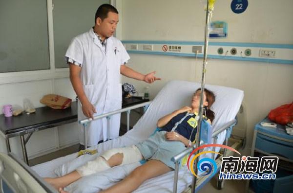 <b>三亚:女子膝痛三年备受折磨医院关节镜技术治愈</b>