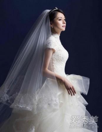 明星婚纱照新娘发型谁最美