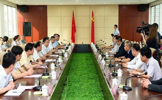 文昌市委书记陈笑波会见香港文昌社团联会访问团