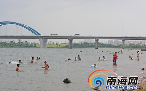 南海网报道引重视海口美兰区将派专人值守野泳点