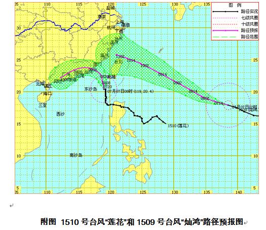 """""""莲花""""和""""灿鸿""""将形成双台风暂不影响海南陆地"""