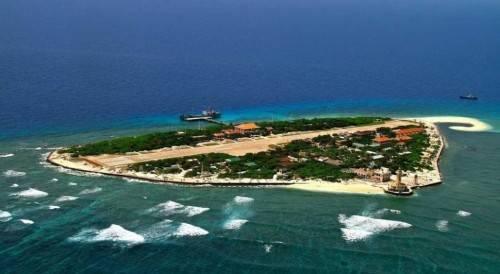 南沙群岛最新填海囹�a_南海网 新闻中心 海南新闻 海南时政    南威岛,中国南沙群岛岛礁之一