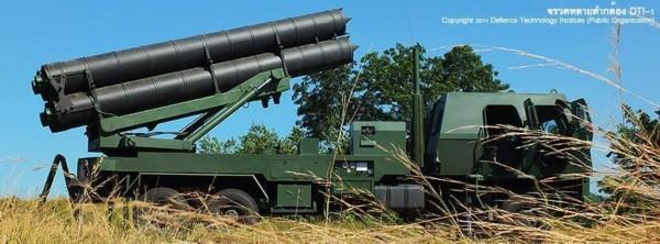 资料图:泰国陆军装备的dti-1系列火箭炮图片