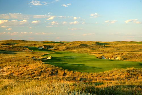 激发高尔夫沙丘热情球手美国球场高尔夫俱乐一个弓v沙丘疯狂看图图片