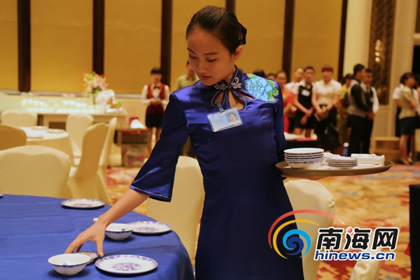 <b>琼北旅游饭店服务技能大赛开赛301名选手参赛创新高</b>