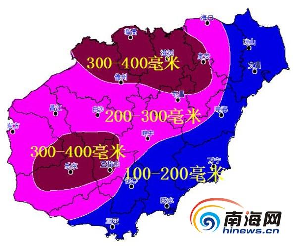海南未来三天现强降水天气北部局地有特大暴雨