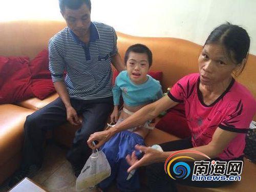 家贫没钱治疗保亭10岁男童插尿管3年每日剧痛大哭