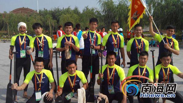 全国民运会第三个比赛日海南龙舟队获得2个二等奖