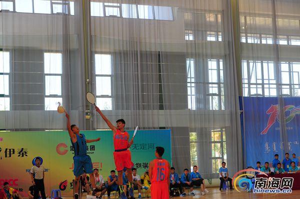 民运会海南男子珍珠球队四分之一决赛不敌辽宁队获得三等奖