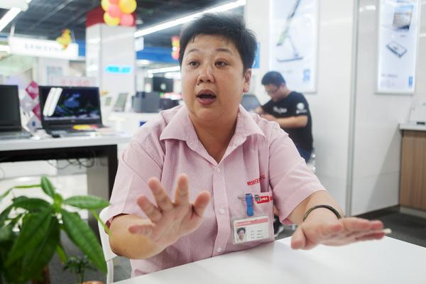 8月20日,上海国美老西门旗舰店,上海胖阿姨蒋璐赟高清图片