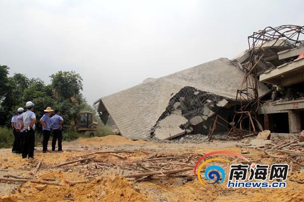 文昌强制拆除占用集体土地一楼房总面积达5466平方米