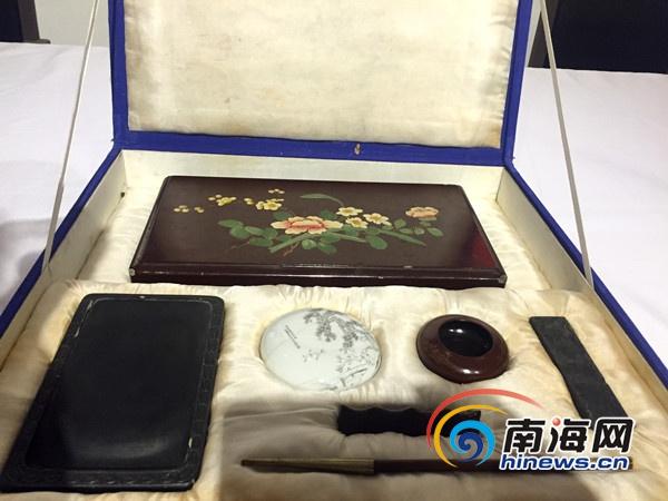 海南抗战文物史料展9月开展日本投降使用文具亮相