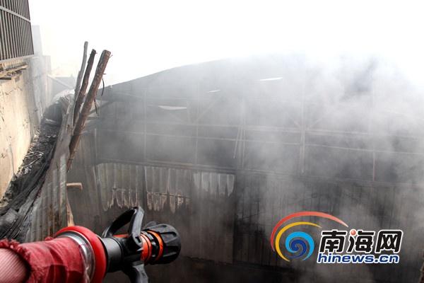 海口居民楼突发大火群众齐救火消防成功疏散24人