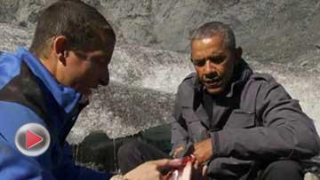 奥巴马参加荒野求生一幕