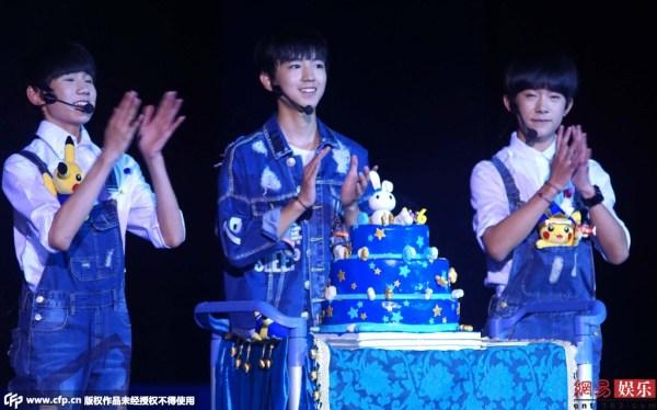 王俊凯、易烊千玺、王源-为庆TFBOYS队长生日 粉丝竟 买 下重庆游乐