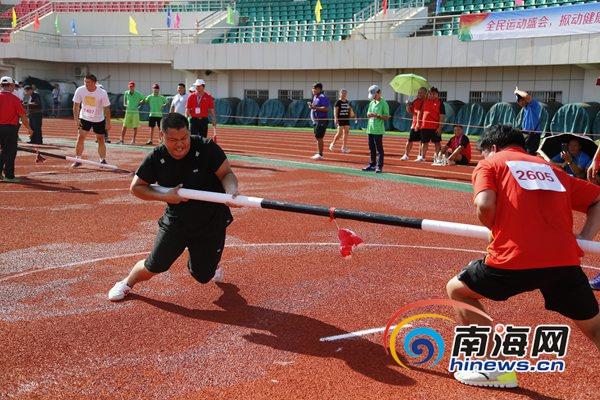 <b>海南省全民健身运动会第二日五队各夺一金</b>