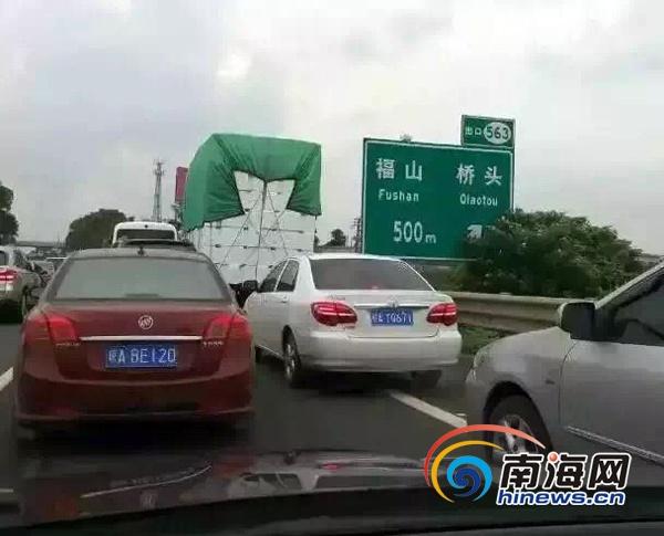 国庆海南查处违法占用应急车道1300起车主被曝光