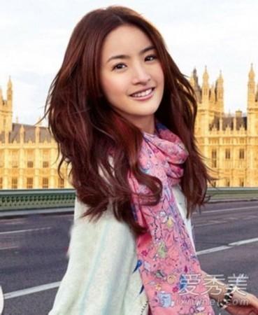 赵丽颖刘亦菲陈妍希10大小孩脸发型女神PK颜色染头发什么包子好图片