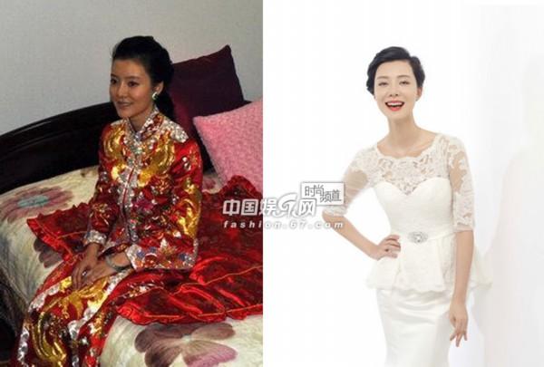 中式礼服pk西式婚纱!baby郭晶晶中西婚礼造型比拼